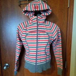 Reversible Size 6 Lululemon Striped Scuba Hoodie